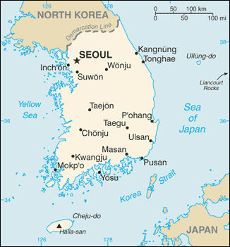 Towns and cities in South Korea